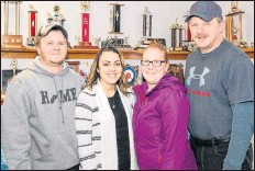 ?? CONTRIBUTED ?? Winner of the Middleton Curling Club's January Thaw Mixed Bonspiel Jan. 13 was club president Cody Spidle with his team of Dawn Spidle, Bruce Johnson and Emily Neily. The annual event drew teams from across the Valley.