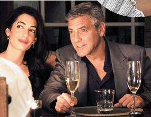??  ?? whirlwind romance: George Clooney and Amal Alamuddin in April