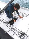 ??  ?? A larger waterproof locker in the centre of the deck, abaft the mast, can carry a couple of medium-sized bags