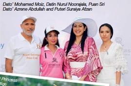 ??  ?? Dato' Mohamed Moiz, Datin Nurul Noorajala, Puan Sri Dato' Azrene Abdullah and Puteri Suraiya Afzan