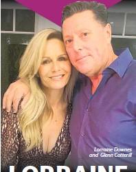 ??  ?? Lorraine Downes and Glenn Cotterill