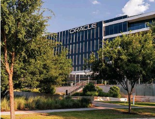 ?? Ilana Panich-Linsman ?? Oracle's Austin campus is among company headquarters based in the Texas capital as firms from California flock to Texas seeking lower taxes and utility costs, among other things.