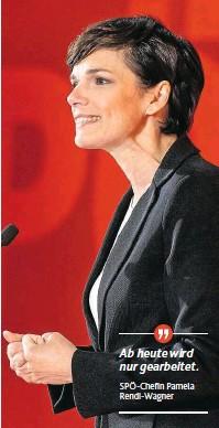 ??  ?? Ab heute wird nur gearbeitet. SPÖ-Chefin Pamela Rendi-Wagner