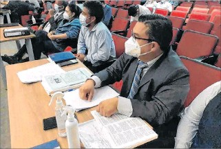 ?? CORTESÍA ?? Diligencia. El fiscal Eduardo Díaz, de la Unidad de Fedoti, lleva el caso de delincuencia organizada.