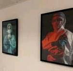 ?? FOTO RR ?? Een coronapatiënt schonk deze kunstwerken aan het AZ Turnhout.