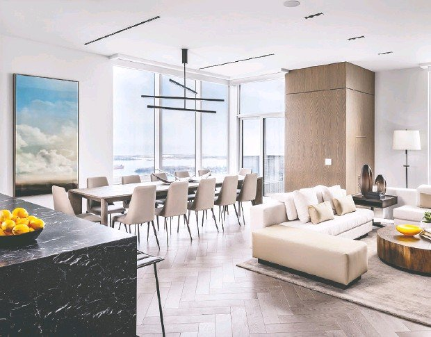 ?? Photo courtesy Tridel Corp. ?? Tridel Corp.'s Innovation Suite atop the downtown Ten York tower showcases how far kitchen functionality can be pushed.
