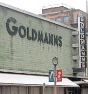 ?? JOURNAL SENTINEL FILES ?? The popular store Goldmann's stands gutted and emptied on March 23, 2011. The vertical sign is being restored.