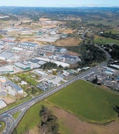 ?? Photo / File ?? Tauriko Business Estate as viewed from above in 2018. A proposed roundabout on SH29 is expected to be crucial to the development's progress.