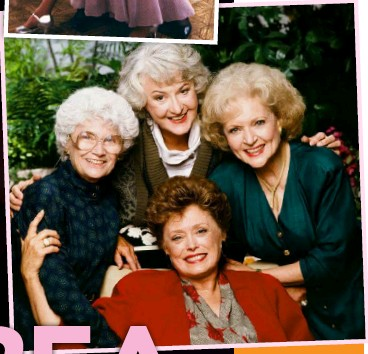 ??  ?? The Golden Girls (above, clockwise from left): Estelle Getty, Bea, Betty – who is the only cast member still alive – and Rue McClanahan.