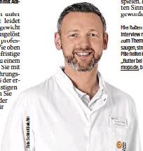 ??  ?? Dr. Johannes Sander Er ist Chefarzt der Adipositas-Klinik an der Schön Klinik in Eilbek.