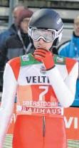 ?? FOTO: JOACHIM HAHNE ?? Der türkische Skispringer Fatih Arda Ipcioglu Ende 2017 beim Tournee-Auftakt in Oberstdorf.