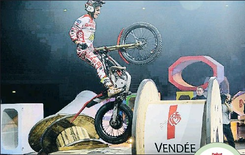 ?? X-TRIAL.COM ?? Jaime Busto, en la imagen durante el Trial de Vendée, tuvo un gran estreno con Gas Gas en el Mundial de X-Trial: fue 2.º