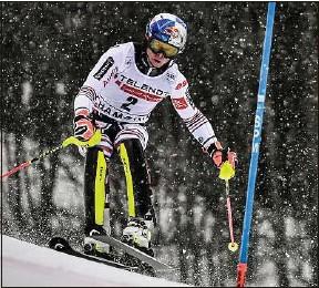 ??  ?? Le skieur de Courchevel est leadeur du classement de la Coupe du monde.