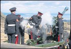 ??  ?? A gun salute is fired at Edinburgh Castle