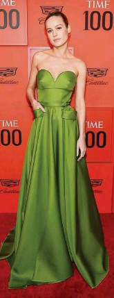??  ?? Brie Larson at the TIME 100 Gala Red Carpet at the Lincoln Center.
