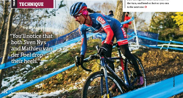 ??  ?? below Catharine Pendrel taking her mountain bike skills to the CX course at the 2018 Canadian CX championships