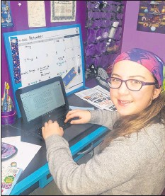 ?? CONTRIBUTE­D ?? Port Williams resident Caelin Ansems, 14, has successful­ly completed the NaNoWriMo challenge, having written 50,000 words towards a novel during the month of November. She says she hopes to have her fantasy novel published one day.