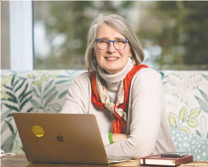 ?? JOHN KENNEY ?? Award-winning writer Louise Penny sits in the room of her Eastern Townships home where she writes her novels featuring Chief Inspector Armand Gamache of the Sûreté du Québec. Her novels have garnered international success and been translated into multiple languages.