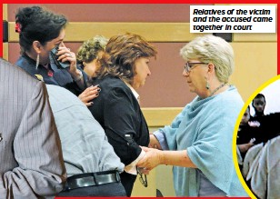 ??  ?? Relatives of the victim and the accused came together in court