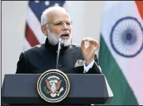 ?? PICTURE: REUTERS ?? Indian Prime Minister Narendra Modi has come under fire for not condemning the incidents, the latest of which claimed a youth on a train.