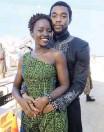 ?? REUTERS ?? BOSEMAN and Black Panther co-star Lupita Nyong'o at a premiere.  