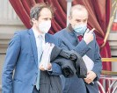 ?? Photo / AP ?? Deputy Secretary General and Political Director of the European External Action Service, Enrique Mora (right) leaves the Grand Hotel Wien where nuclear talks with Iran took place in Vienna.