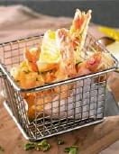 ??  ?? Shrimps en Gabardina is Spanish-style tempura.