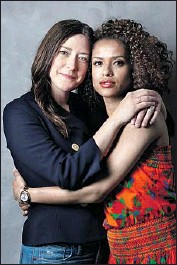 """?? Jay L. Clendenin Los Angeles Times ?? """"READING this was like a breath of fresh air,"""" says """"Fast Color"""" star Gugu Mbatha-Raw, right, of the superhero indie co-written by director Julia Hart."""