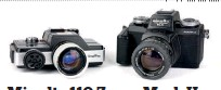??  ?? Minolta 110 Zoom Mark I (left) beside the differently styled Mark II
