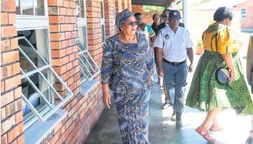 ??  ?? MEC Weziwe Thusi inspecting the newly built Community Care Centre at KwaNibela