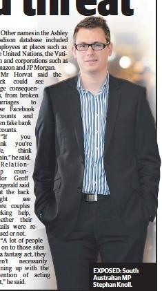 ??  ?? EXPOSED: South Australian MP Stephan Knoll.