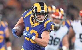 ?? KIRBY LEE/USA TODAY SPORTS ?? The Rams' Cooper Kupp, who tore an ACL last season, set a receiving record for an International Series game with his 220 yards Sunday.