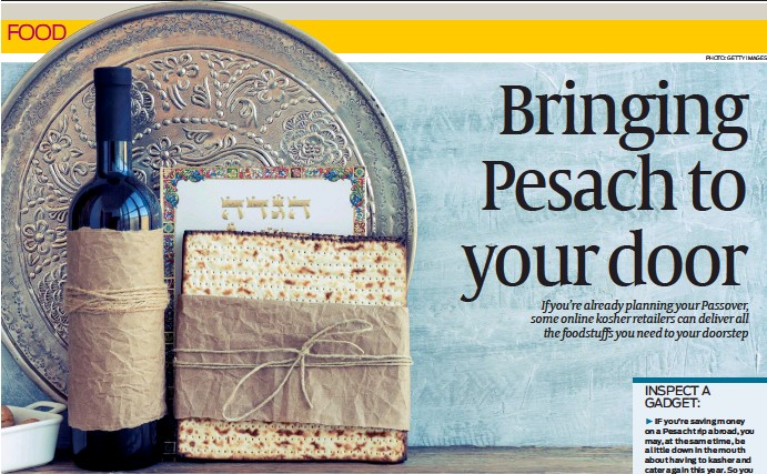??  ?? Online retailers are ready to make this Pesach super safe for shoppers