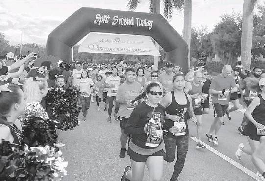 ?? DUREEROSS/ COURTESY ?? TheRotary Club ofWeston's 23rd annual Run forTomorrowwill be a virtual race taking place fromDec. 5-13. There will also be an in-person Health& Fitness Festival andMayor'sGet Fit Challenge onDec. 6.