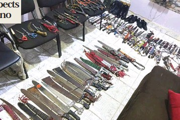 ?? From Fanen Ihyongo, Kano ?? •Weapons seized from the suspects