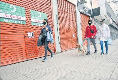 ?? Sandra Cartasso ?? El cierre de comercios impactó sobre el nivel de empleo en la Ciudad.