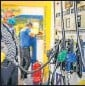 ?? HT PHOTO ?? This was the 20th hike in fuel prices since May 4.