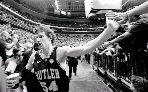 """?? By Sean Dougherty, USA TODAY ?? No chest-thumping: Matt Howard, exiting the arena in Tucson after beating Pitt, calls his game-winning NCAA plays, a free throw and layup, """"the two easiest shots in the game."""""""