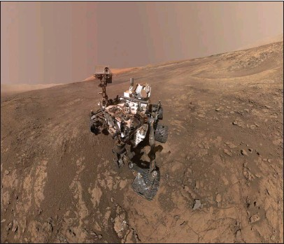?? NASA/JPL-Caltech/MSSS ?? A self-portrait taken by NASA's Curiosity rover in the Gale Crater.