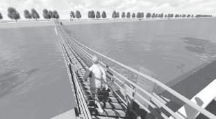 ??  ?? Proyecto de puente colgante.