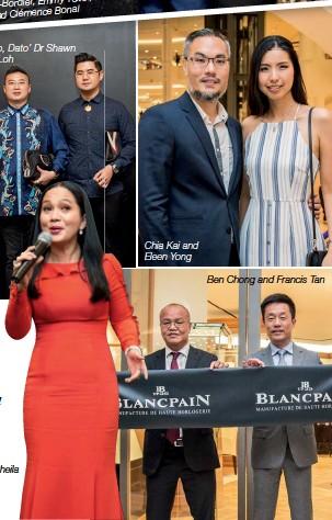 ??  ?? Dato' Sheila Majid has clocked more than 100 dives Chia Kai and Eleen Yong Ben Chong and Francis Tan Dato' Sheila Majid