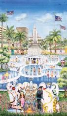"""??  ?? 2 Gayle Garner Roski, Santa Monica, watercolor, 40½ x 23½"""" 1"""