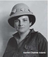 ??  ?? Harriet Chalmer Adams