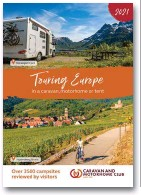 ??  ?? LEFT The Caravan and Motorhome Club publishes useful guidebooks for touring in Europe