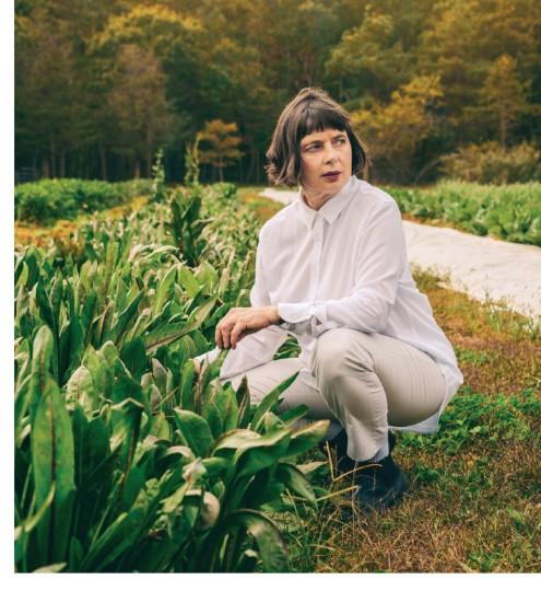 ??  ?? Rossellini at her farm outside Bellport, New York.