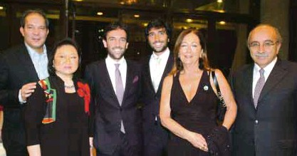 ??  ?? PATRICK Jacinto, Nedy Tantoco, president of Rustan's Group of Companies and Philippine Italian Association; First Secretary of Italian Embassy Dr. Alfonso Tagliaferri, his brother Lorenzo, and parents Stefania Speca and Giuseppe PHOTOS BY RODEL ROTONI