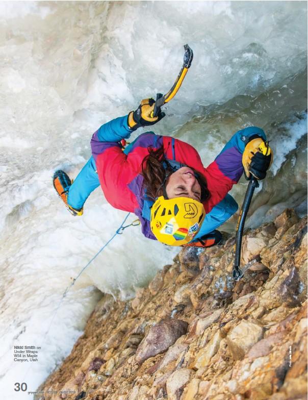 ??  ?? Nikki Smith on Under Wraps WI4 in Maple Canyon, Utah