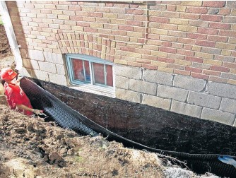 ?? HOLMES GROUP ?? You will have to excavate around your home to add waterproofing after it's built, writes Mike Holmes.