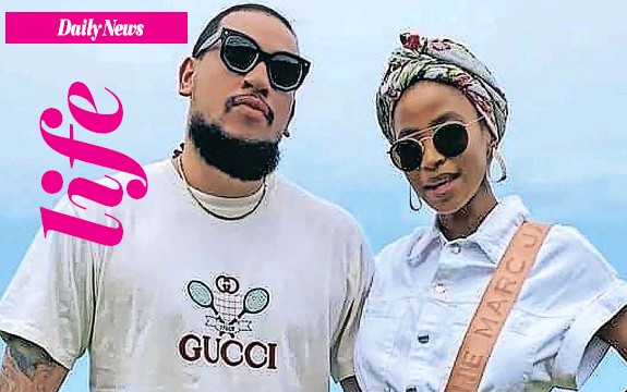 """??  ?? RAPPER AKA and his fiancee Anele """"Nelli"""" Tembe, who died last month after plunging from the balcony of a Cape Town hotel. Below: Enhle Mbali Mlotshwa."""