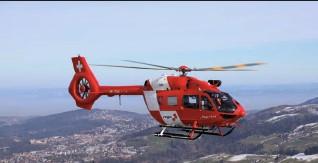 """??  ?? """"Rega 7""""der Schweizer Rettungsflugwacht über dem Kanton St. Gallen."""